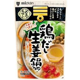 ミツカン 〆まで美味しい鶏だし生姜鍋つゆストレート 750g 3個