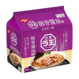 日清食品 ラ王 日清 ラ王 豚骨醤油 5食パック 490g ×6袋