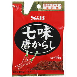 S&B 七味唐からし 詰めかえやすい新形態 袋14g [7026]