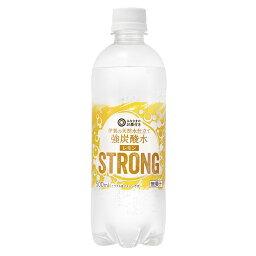 西友オリジナル 1ケース みなさまのお墨付き 伊賀の天然水仕立て 強炭酸水レモン STRONG 500ml×24