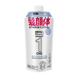 メンズビオレ ONE オールインワン全身洗浄料 フルーティーサボンの香り 詰め替え 340ml 1個 花王