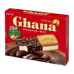 ガーナ アイス チョコ&クッキーサンド 4個入り