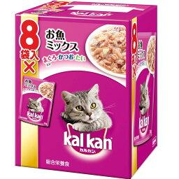 カルカン パウチお魚ミックス鮪・鰹・たい70g×8袋/