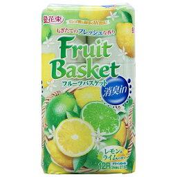 丸富製紙 フルーツバスケット 消臭イン レモン&ライム ダブル 27.5m 12ロール