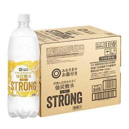 西友オリジナル 1ケース みなさまのお墨付き 伊賀の天然水仕立て 強炭酸水レモン STRONG 1000ml×12
