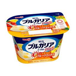 明治 ブルガリアヨーグルト 脂肪0 朝のシャキッとフルーツミックス 180g
